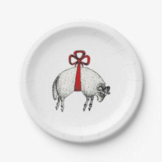 Plato De Papel Emblema congregado heráldico del escudo de las