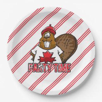 Plato De Papel Es placas de papel del fiesta de Canadá de un