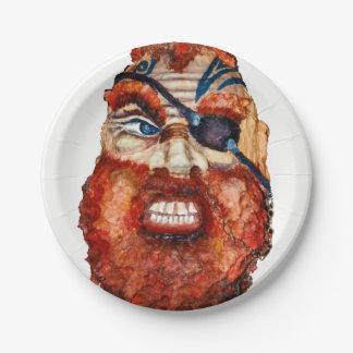 Plato De Papel Escandinavo feroz vikingo