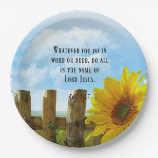 Plato De Papel Escritura, 3:17 de Colossians