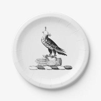 Plato De Papel Escudo heráldico de muy buen gusto del escudo de