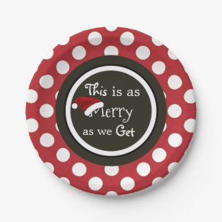 """Plato De Papel """"Esto es tan feliz como conseguimos"""" navidad"""