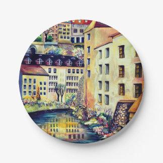 Plato De Papel Estocolmo - Gamla Stan, ciudad vieja, Suecia