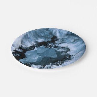 Plato De Papel Fantasía azul cristalina
