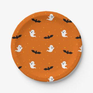 Plato De Papel Fantasmas y placa de papel de Halloween de los