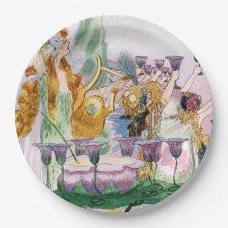 Plato De Papel Fiesta caprichoso del Fairyland