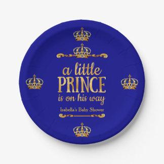 Plato De Papel Fiesta de bienvenida al bebé de príncipe On His