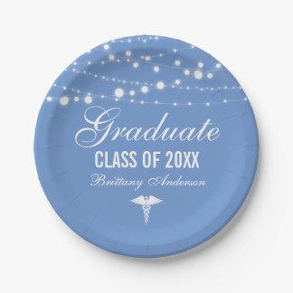 Plato De Papel Fiesta de graduación médica o de la escuela de