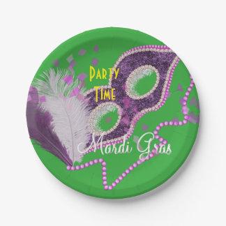 Plato De Papel Fiesta de lujo de la máscara de las celebraciones
