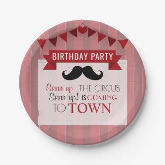 Plato De Papel Fiesta del cumpleaños del circo de los niños
