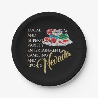 Plato De Papel Fiesta Nite de Las Vegas Nevada