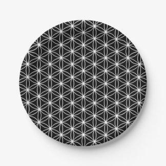 Plato De Papel Flor de la geometría sagrada de la vida