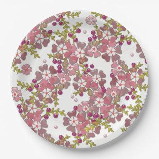 Plato De Papel Flores de cristal hermosas