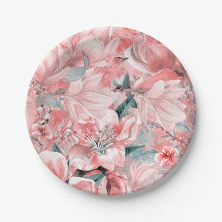 Plato De Papel flowers2bflowers y #flowers del modelo de los