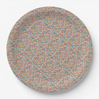 Plato De Papel Fuentes del fiesta de Sakura del arte abstracto de