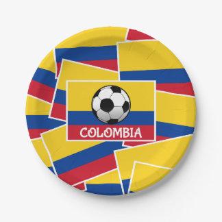 Plato De Papel Fútbol de Colombia