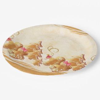 Plato De Papel Galletas y pan de jengibre del navidad