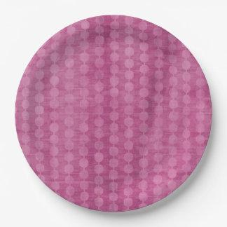 Plato De Papel Gota rosada