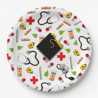 Plato De Papel Graduación de la escuela de enfermería