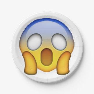 Plato De Papel Griterío - Emoji