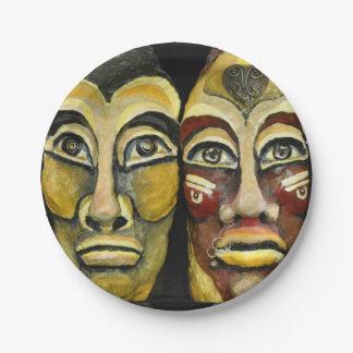 Plato De Papel Guerreros mayas - diseño del surrealismo