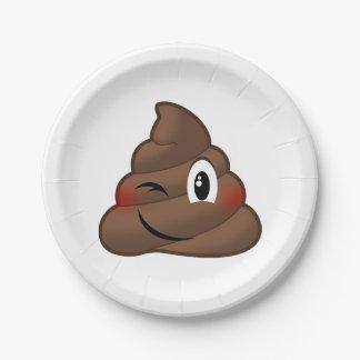 Plato De Papel Guiño del impulso Emoji