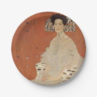 Plato De Papel GUSTAVO KLIMT - Retrato de Fritza Riedler 1906