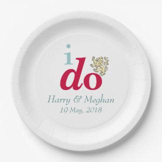 Plato De Papel HAGO las placas reales de Harry y del banquete de