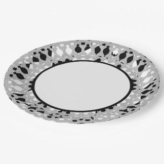 Plato De Papel Harlequin-Silver-Shield_Everyday-Plates