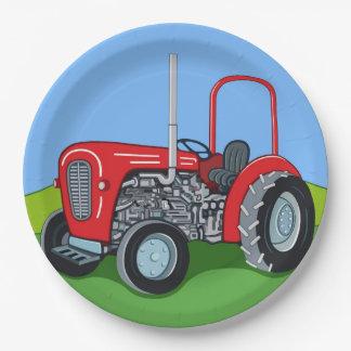 Plato De Papel Herberto el tractor