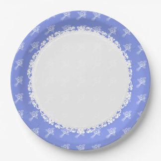 Plato De Papel HOLIDAY-EVERYDAY - Blueberry-White_ROSES