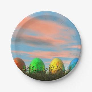 Plato De Papel Huevos coloridos para pascua - 3D rinden