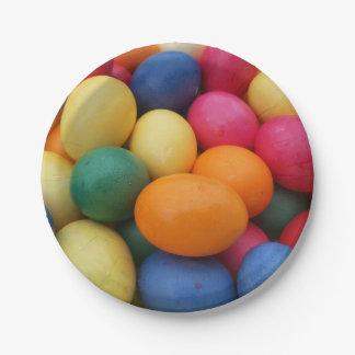 Plato De Papel Huevos de Pascua coloreados multi festivos