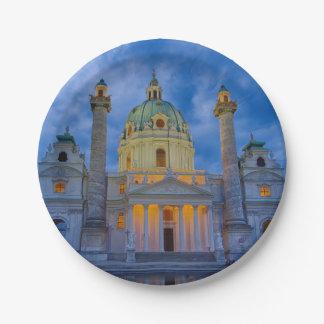 Plato De Papel Iglesia San Carlos, Viena