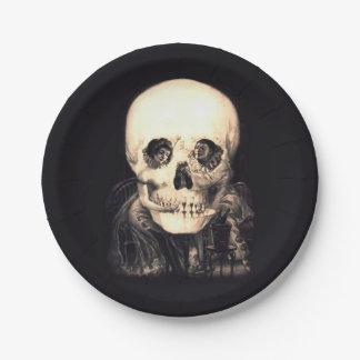 Plato De Papel Ilusión del cráneo