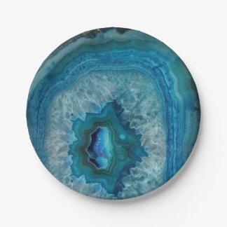 Plato De Papel Imagen mineral del cristal de la ágata de la roca