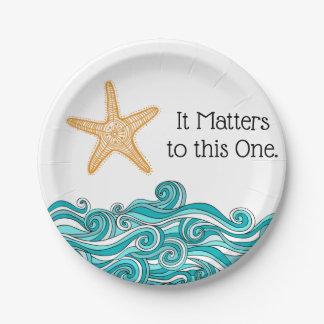 Plato De Papel Importa a esta una estrella de mar