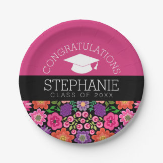 Plato De Papel La enhorabuena gradúa la graduación femenina de