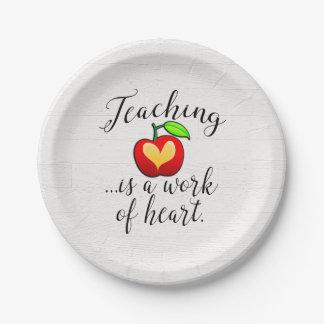 Plato De Papel La enseñanza es un trabajo del aprecio del