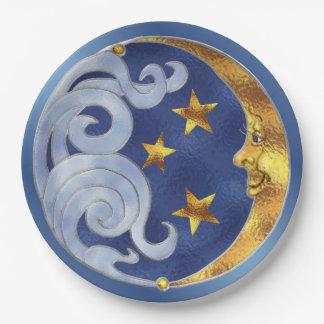 Plato De Papel La luna celestial protagoniza las placas de papel