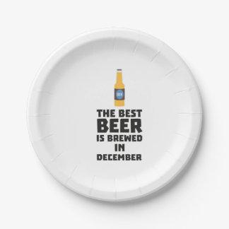 Plato De Papel La mejor cerveza es en diciembre Zfq4u elaborado