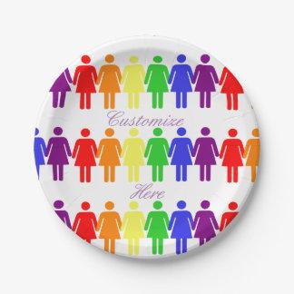 Plato De Papel las derechas de las mujeres 2017 LGBTQIA