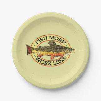 Plato De Papel Los pescados chistosos más - trabaje menos pesca