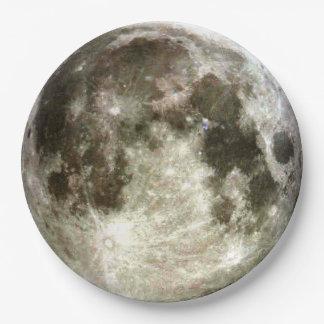 Plato De Papel Luna Llena
