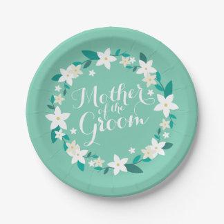 Plato De Papel Madre de la placa de papel elegante del boda el  