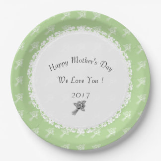 Plato De Papel Madre-Día--Anniversary-Template_Roses-Green