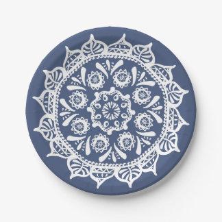 Plato De Papel Mandala de la noche