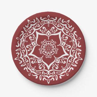 Plato De Papel Mandala del arándano