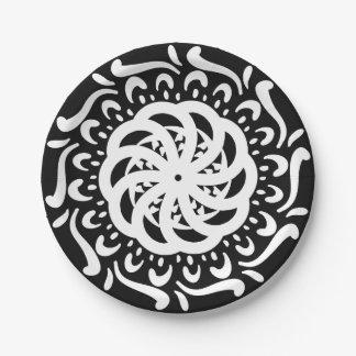 Plato De Papel Mandala del cuervo