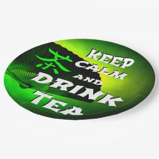 Plato De Papel mantenga té tranquilo y de la bebida